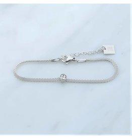 Zag Bijoux Zag Bijoux Bracelet Zircon Zilverkleurig