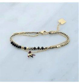 Zag Bijoux Zag Bijoux Double Bracelet Beads Goudkleurig