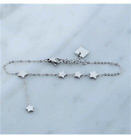 Zag Bijoux Zag Bijoux Bracelet Stars Zilverkleurig