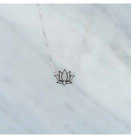 Zag Bijoux Zag Bijoux Necklace Lotus Zilverkleurig