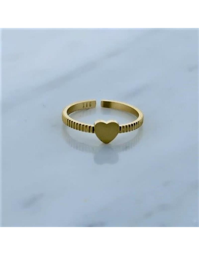 Zag Bijoux Zag Bijoux Ring Heart Goudkleurig