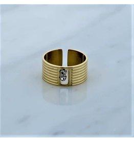 Zag Bijoux Zag Bijoux Ring Zircon Goudkleurig