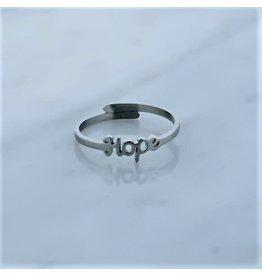 Zag Bijoux Zag Bijoux Ring Hope Zilverkleurig