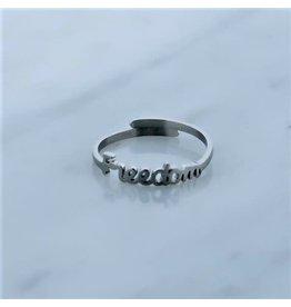 Zag Bijoux Zag Bijoux Ring Freedom Zilverkleurig