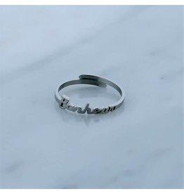 Zag Bijoux Zag Bijoux Ring Bonheur Zilverkleurig
