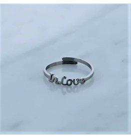 Zag Bijoux Zag Bijoux Ring In Love Zilverkleurig