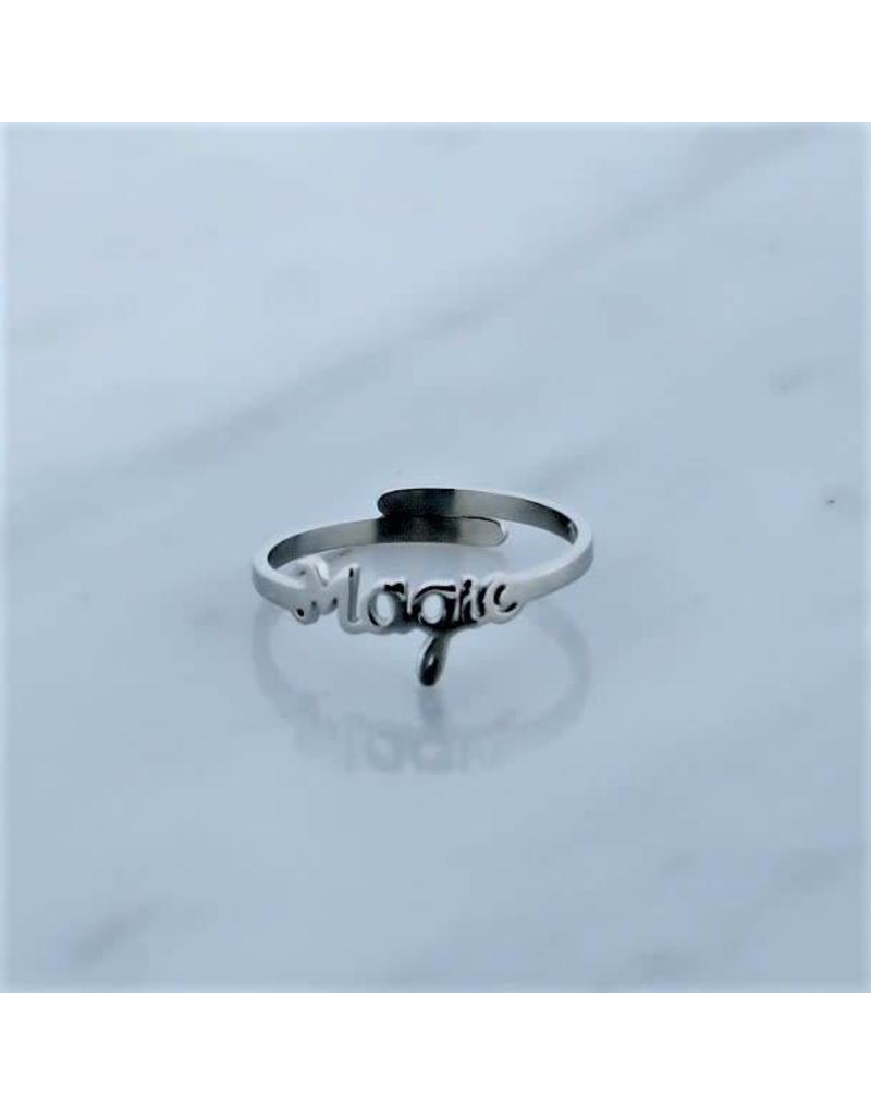 Zag Bijoux Zag Bijoux Ring Magic Zilverkleurig