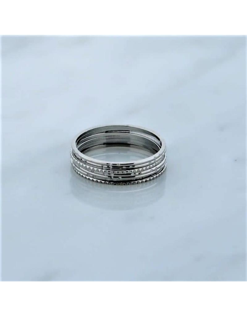Zag Bijoux Zag Bijoux Ring Stapelring Zilverkleurig