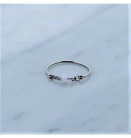 Zag Bijoux Zag Bijoux Ring Chain Pink Zilverkleurig