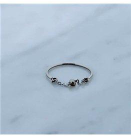 Zag Bijoux Zag Bijoux Ring Chain Grey Zilverkleurig