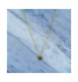 Zag Bijoux Zag Bijoux Necklace Pearl Heart Goudkleurig