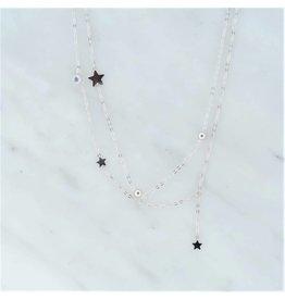 Zag Bijoux Zag Bijoux Necklace Stars Zilverkleurig
