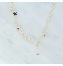 Zag Bijoux Zag Bijoux Necklace Stars Goudkleurig