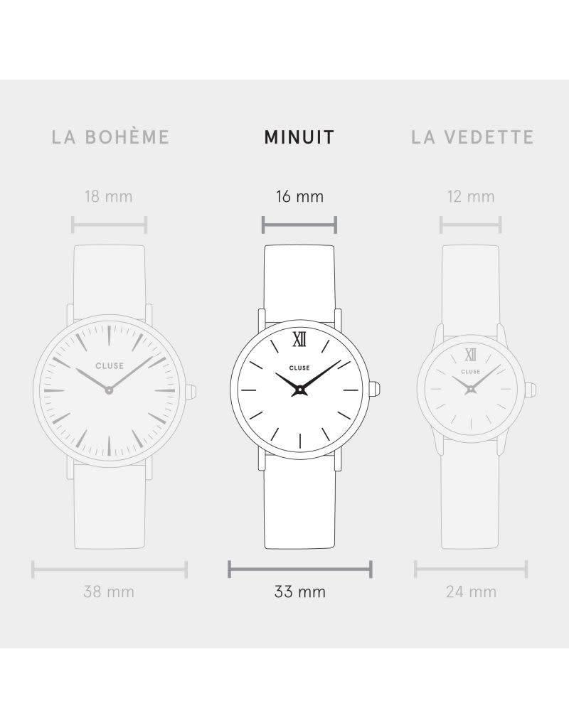 Cluse Watches Cluse Minuit Silver White/Pink