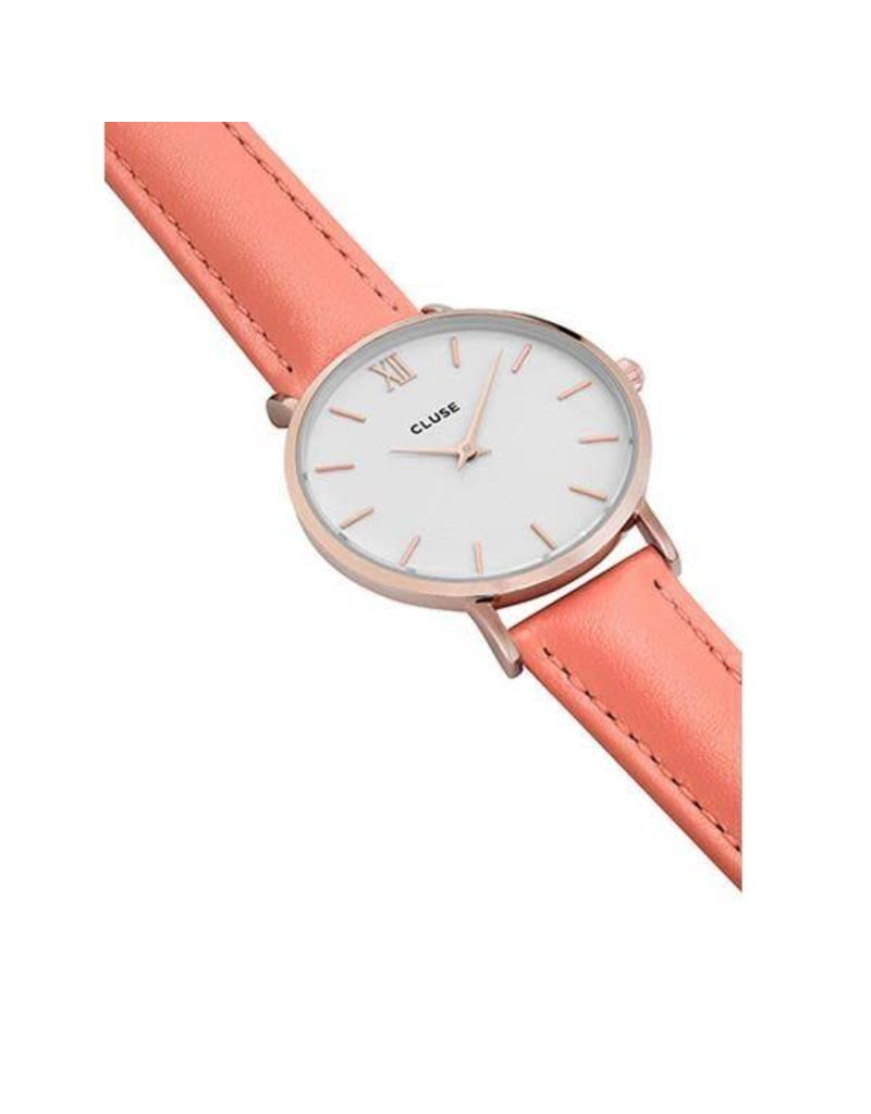 Cluse Watches Cluse Minuit Rose Gold White/Flamingo