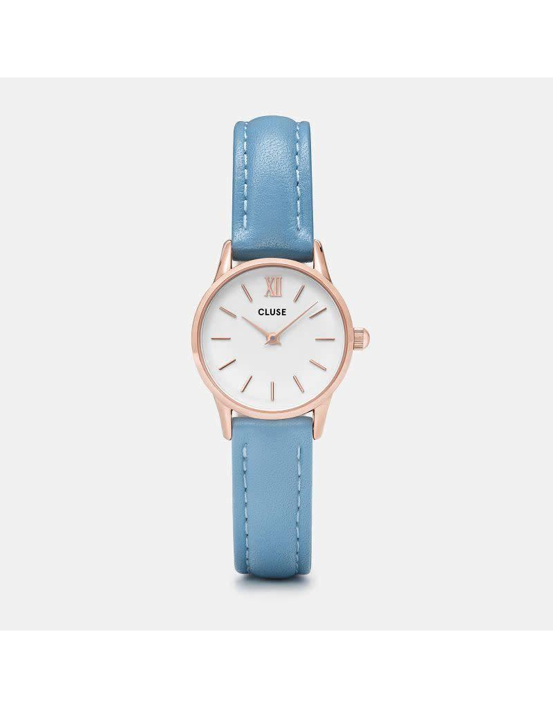 Cluse La Vedette Rose Gold White/Retro Blue
