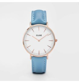 Cluse Watches Cluse La Bohème Rose Gold White/Retro Blue