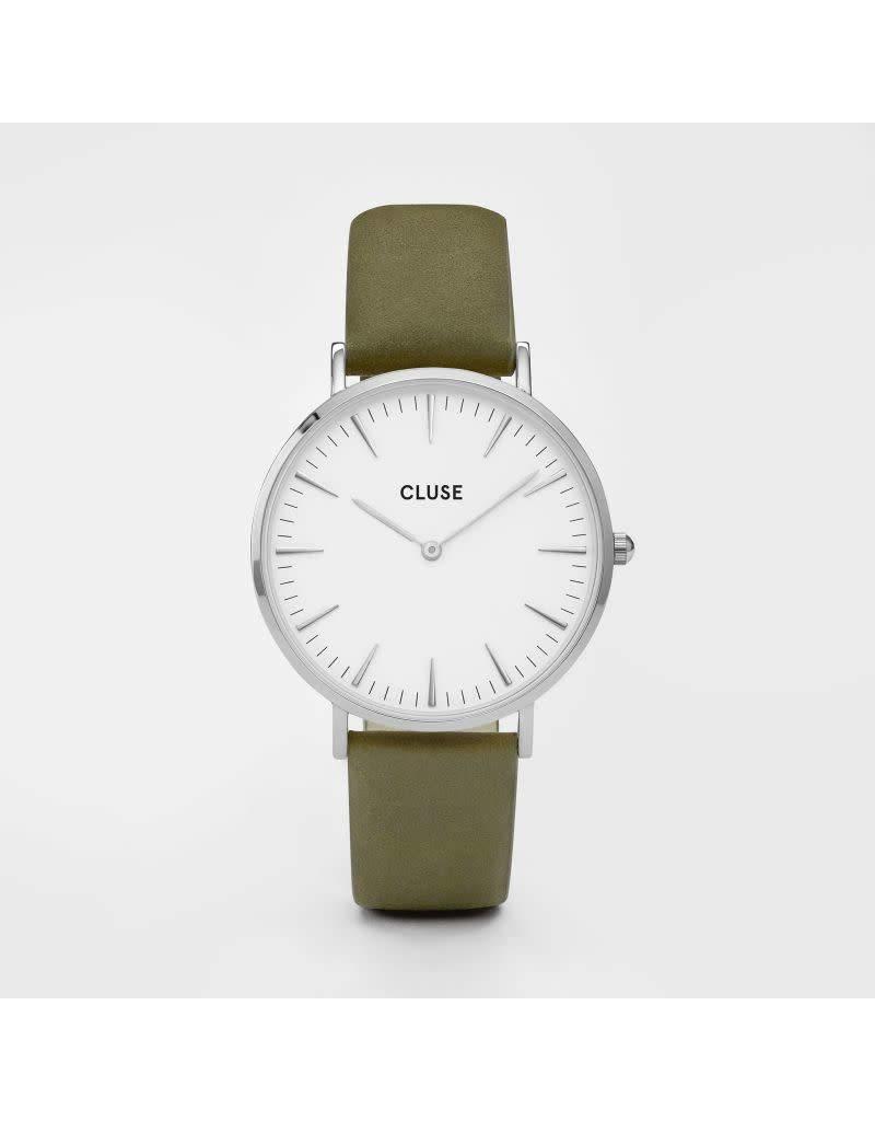 Cluse Watches Cluse La Bohème Silver White/Olive