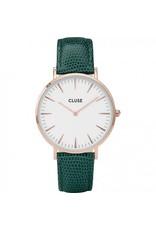 Cluse Watches Cluse La Bohème Rose Gold White/Emerald Green