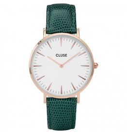 Cluse Watches Cluse La Bohème Rose Gold White/Emerald Green