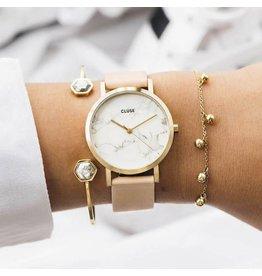 Cluse Watches Cluse La Roche Petite Gold White Marble/Nude