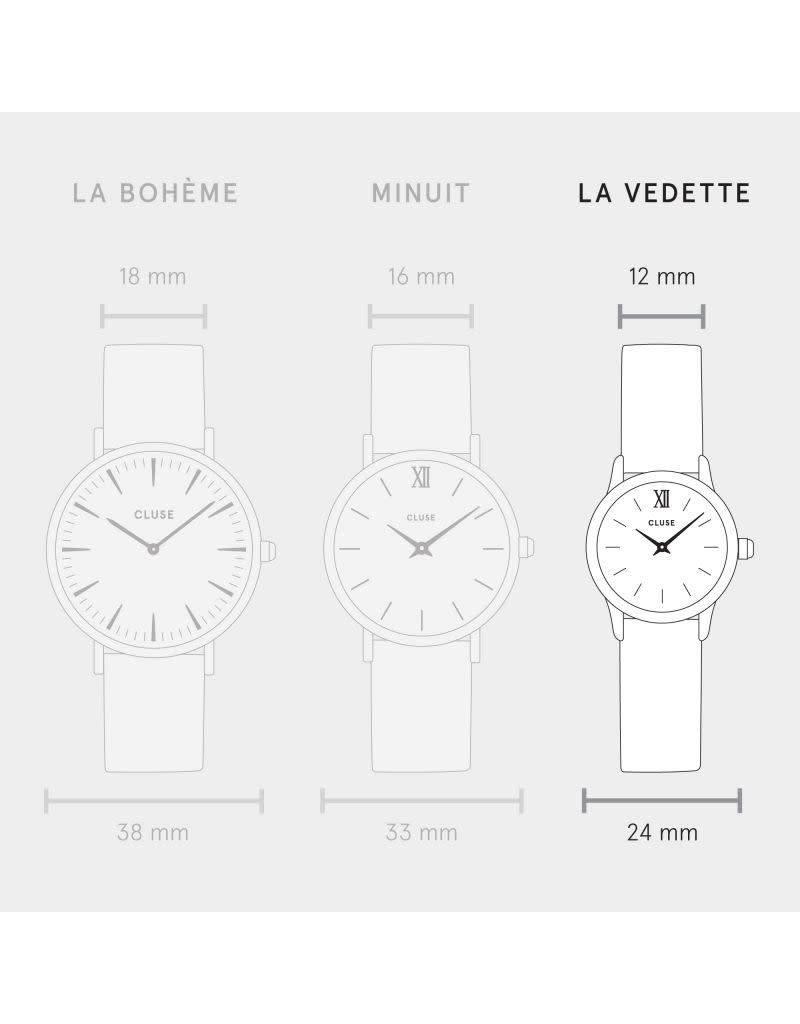 Cluse Watches Cluse La Vedette Rose Gold White/Hazelnut