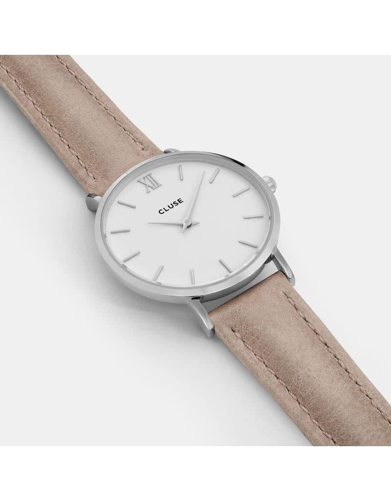 Cluse Watches Cluse Minuit Silver White/Hazelnut