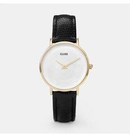 Cluse Watches Cluse Minuit La Perle Gold White Pearl/Black Lizard