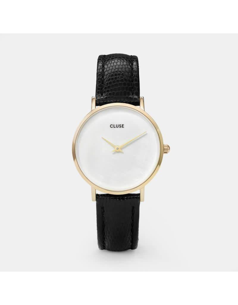 Cluse Watches Cluse Minuit La Perle Gold White Pearl/Black Lizard