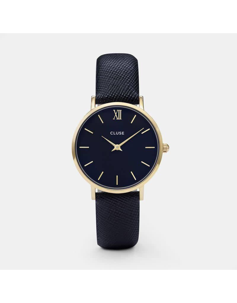 Cluse Watches Cluse Minuit Gold Black/Midnight Blue