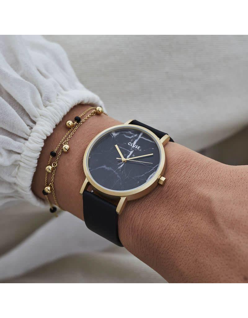 Cluse Watches Cluse La Roche Gold Black Marble/Black