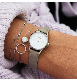 Cluse Watches Cluse La Vedette Silver White/Grey