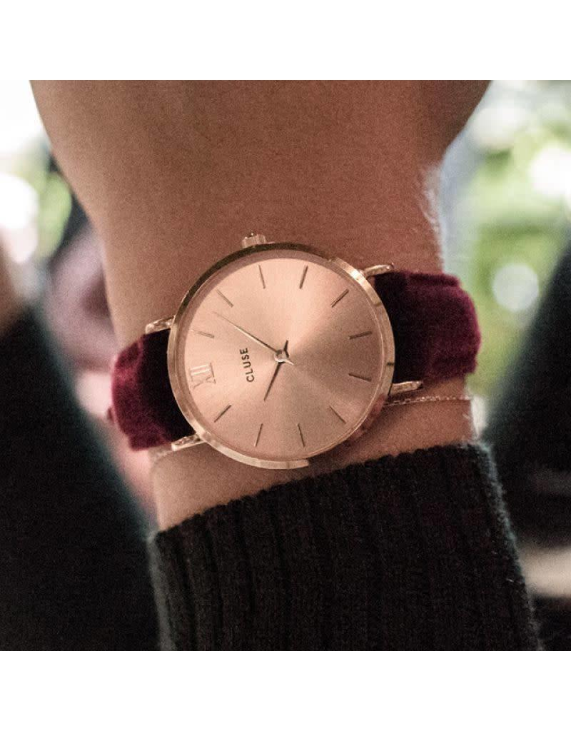 Cluse Watches Cluse Minuit Velvet Rose Gold/Red