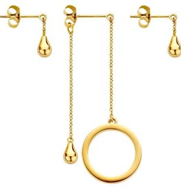 Melano Melano FR Ring And Teardrop Goudkleurig