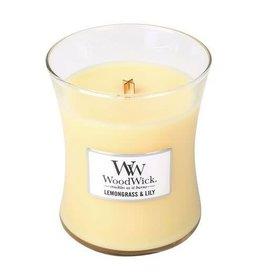 WoodWick WoodWick Medium Candle Lemongrass & Lily