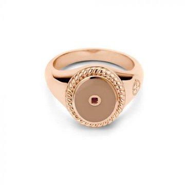 Mi Moneda MMM Icons Ring Oval Rosé & Smokey Enamel