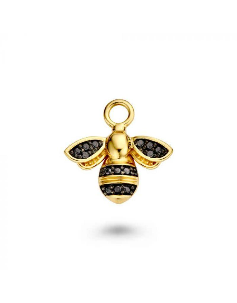Mi Moneda Monogram MMM Charm Bee Goudkleurig