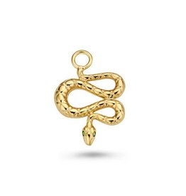 Mi Moneda Monogram MMM Charm Snake Goudkleurig