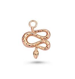 Mi Moneda Monogram MMM Charm Snake Rosé