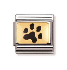 Nomination Nomination - 030212-35- Link Classic ANIMALS - (Paw Print