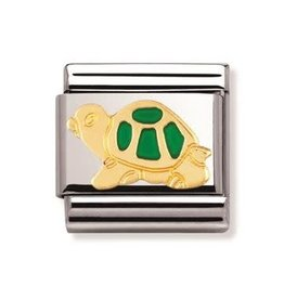 Nomination Nomination - 030212-12- Link Classic ANIMALS - Green Tortoise