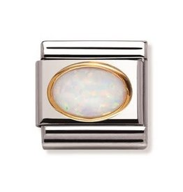 Nomination Nomination - 030502-07- Link Classic STONES - White Opal