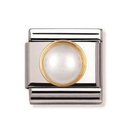 Nomination Nomination - 030503-13- Link Classic STONES - White Pearl