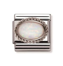Nomination Nomination - 030509-07- Link Classic STONES - White Opal