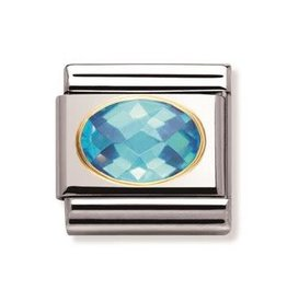 Nomination Nomination - 030601-006- Link Classic FACETED - Light Blue