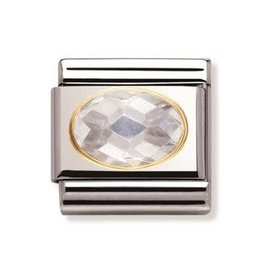 Nomination Nomination - 030601-010- Link Classic FACETED - White