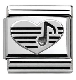Nomination Nomination - 330101-06- Link Classic OXIDIZED SYMBOLS - Heart With Musical Note