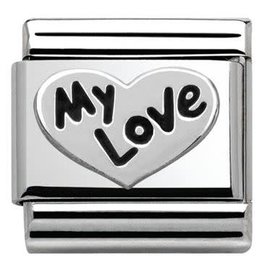 Nomination Nomination - 330101-09- Link Classic OXIDIZED SYMBOLS - Heart My Love