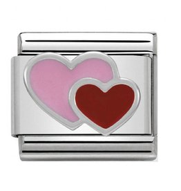 Nomination Nomination - 330202-16- Link Classic SYMBOLS - Pink And Red Double Heart