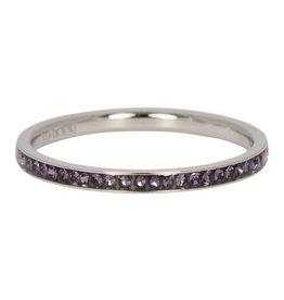 iXXXi Jewelry iXXXi Jewelry Vulring Zirconia Tanzanite 2mm Zilverkleurig